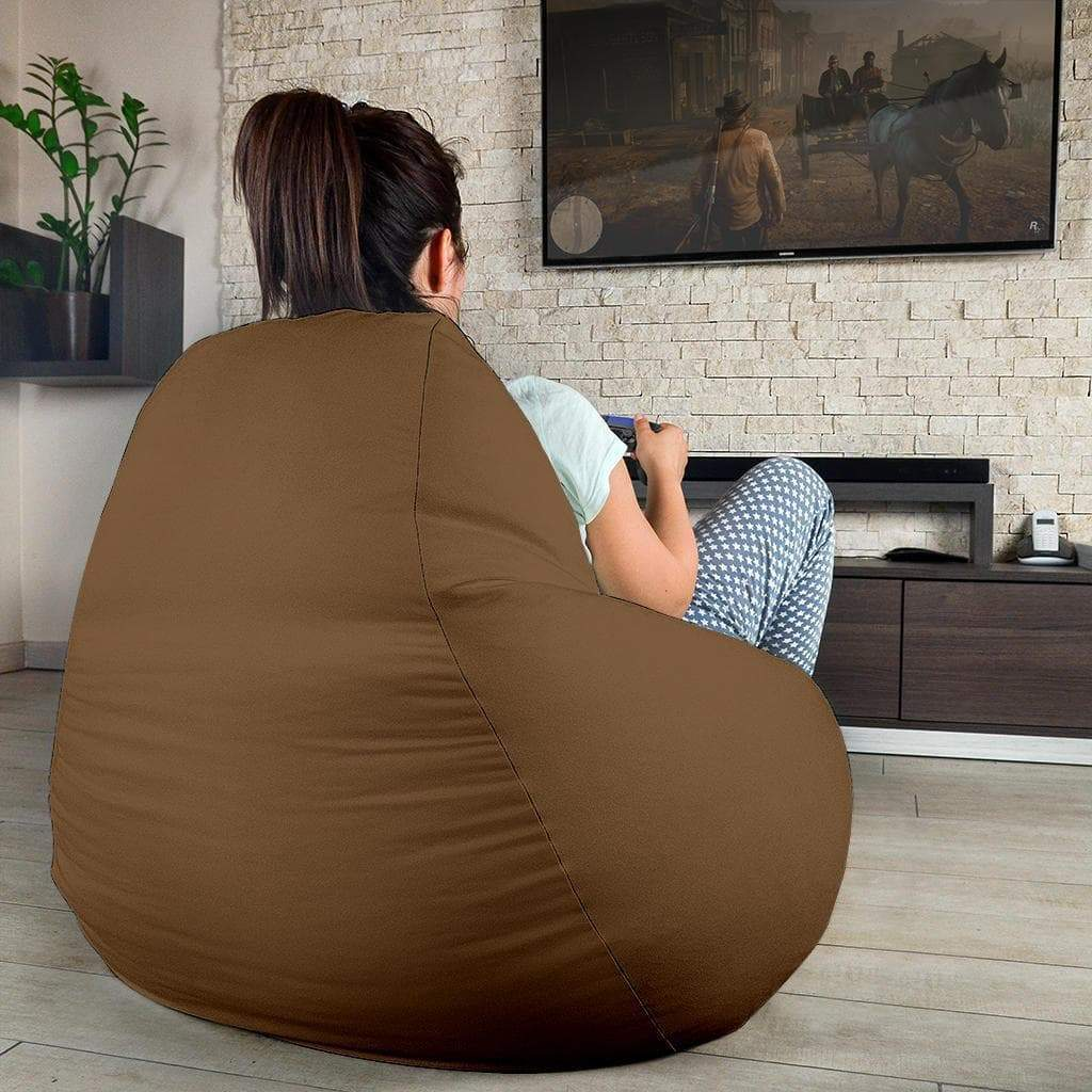 SportsChest STORE Bean Bag Chair - #71 McIntyre Brown Bean Bag Gaming Chair / One Size #71 McIntyre Brown Bean Bag Gaming Chair