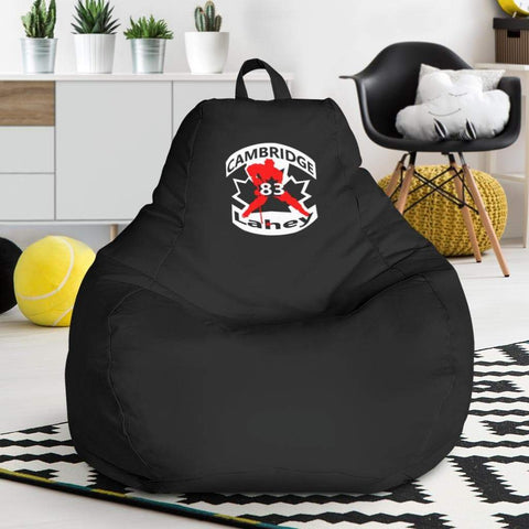 Image of SportsChest STORE Bean Bag Chair - #83 Lahey Cambridge Hockey Black Bean Bag Chair / One Size #83 Lahey Cambridge Hockey Black Bean Bag Chair