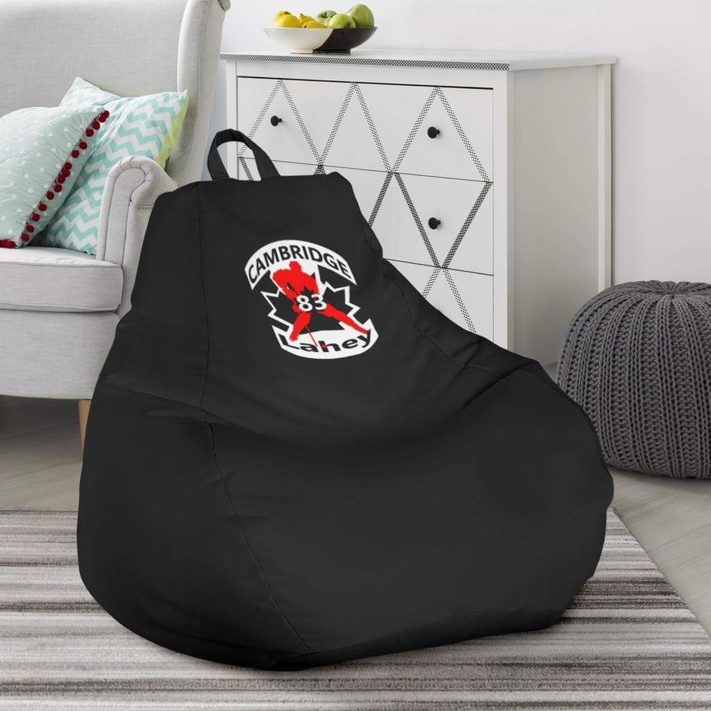 SportsChest STORE Bean Bag Chair - #83 Lahey Cambridge Hockey Black Bean Bag Chair / One Size #83 Lahey Cambridge Hockey Black Bean Bag Chair