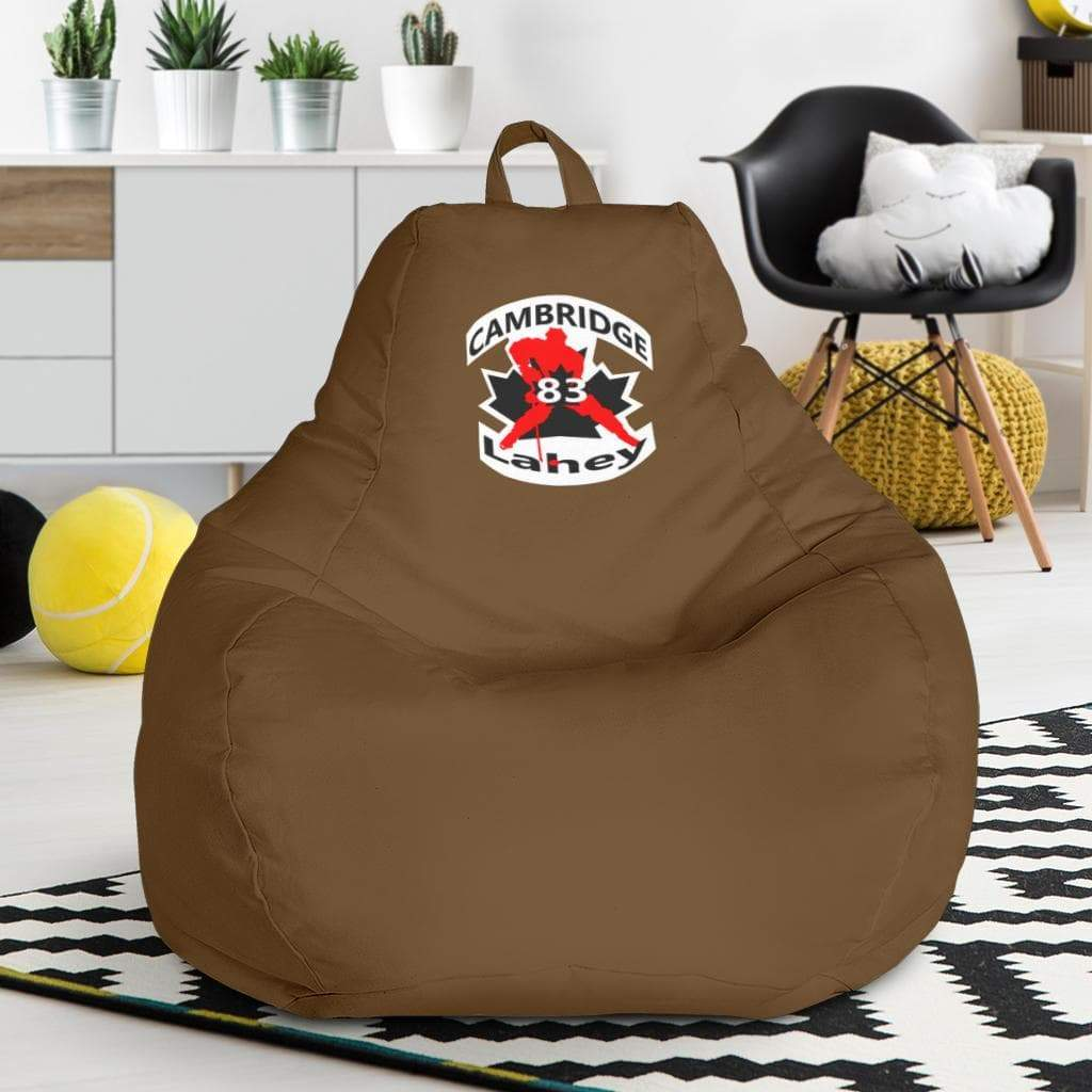 SportsChest STORE Bean Bag Chair - #83 Lahey Cambridge Hockey Brown Bean Bag Chair / One Size #83 Lahey Cambridge Hockey Brown Bean Bag Chair
