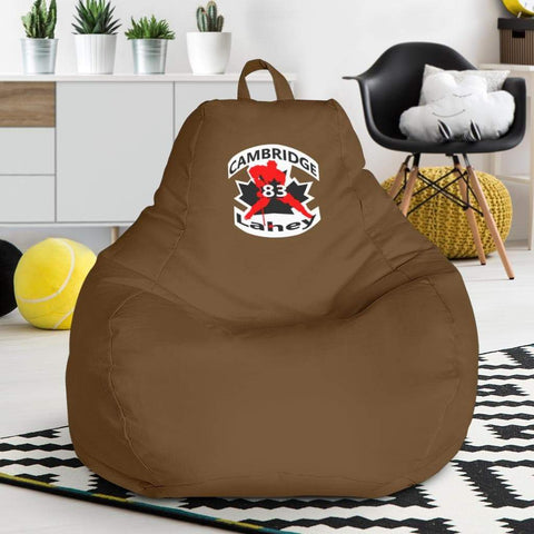 Image of SportsChest STORE Bean Bag Chair - #83 Lahey Cambridge Hockey Brown Bean Bag Chair / One Size #83 Lahey Cambridge Hockey Brown Bean Bag Chair