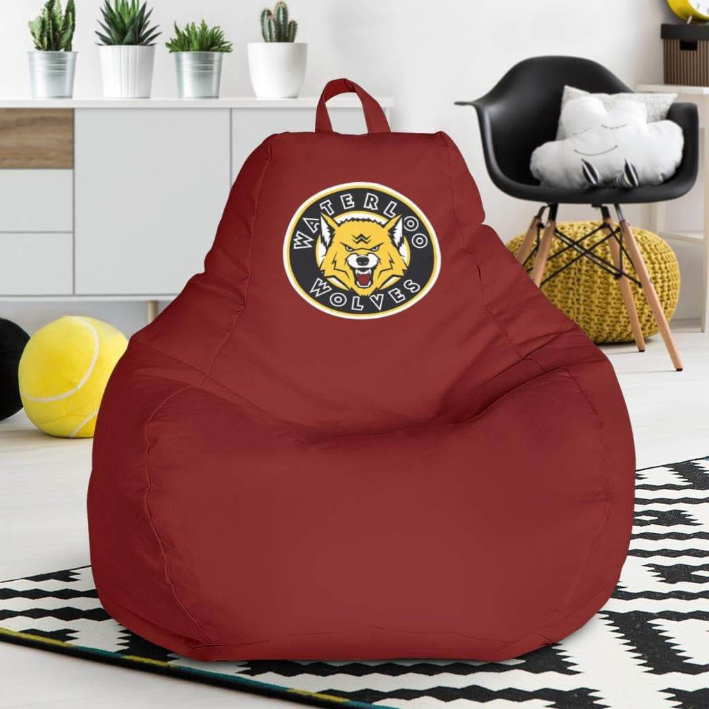 SportsChest STORE Bean Bag Chair - Waterloo Wolves Red Bean Bag Chair / One Size Waterloo Wolves Red Bean Bag Chairs