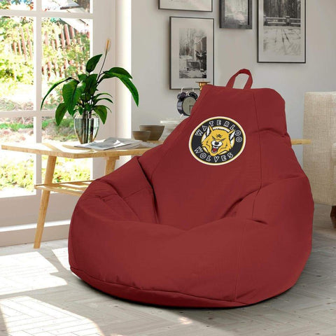 Image of SportsChest STORE Bean Bag Chair - Waterloo Wolves Red Bean Bag Chair / One Size Waterloo Wolves Red Bean Bag Chairs