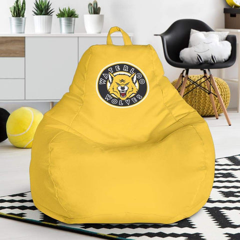 Image of SportsChest STORE Bean Bag Chair - Waterloo Wolves Yellow Bean Bag Chair / One Size Waterloo Wolves Yellow Bean Bag Chairs