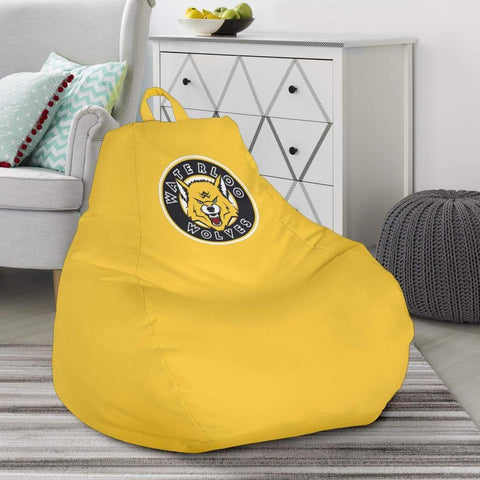 SportsChest STORE Bean Bag Chair - Waterloo Wolves Yellow Bean Bag Chair / One Size Waterloo Wolves Yellow Bean Bag Chairs