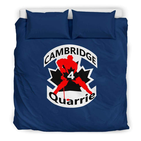 Image of SportsChest STORE Bedding Set - Black - #4 Quarrie Cambridge Hockey Blue Bedding Set / US King #4 Quarrie Cambridge Hockey Blue Bedding Set