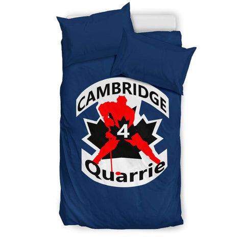 Image of SportsChest STORE Bedding Set - Black - #4 Quarrie Cambridge Hockey Blue Bedding Set / US Twin #4 Quarrie Cambridge Hockey Blue Bedding Set