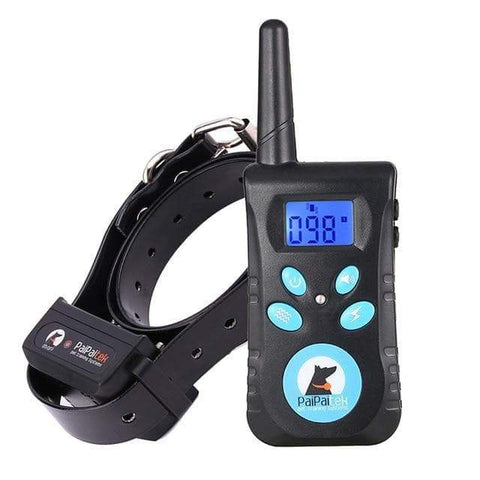 Image of SportsChest STORE Black collar Two in One Automatic Anti bark 1500 ft remote pet Dog training electric shock collar bark