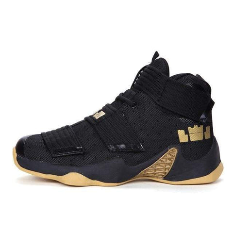 SportsChest STORE black yellow / 36 Men Basketball Shoes Couple Athletic Male Sneakers LBJ Sport Trainers Men High Top Outdoor Breathable Zapatillas De Baloncesto