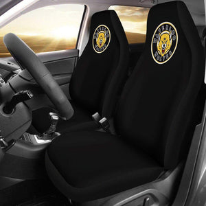 SportsChest STORE Car Seat Covers - Waterloo Wolves Black Custom Car Seat Covers / Universal Fit Waterloo Wolves Black Custom Car Seat Covers