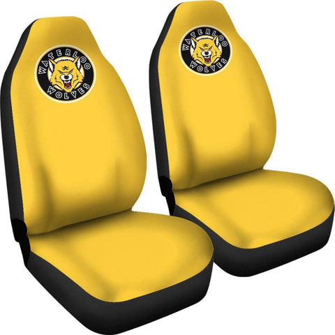 SportsChest STORE Car Seat Covers - Waterloo Wolves Yellow Custom Car Seat Covers / Universal Fit Waterloo Wolves Yellow Custom Car Seat Covers