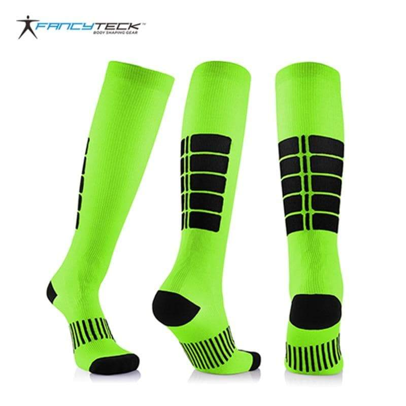SportsChest STORE Fancyteck 3Pairs Antifatigue Unisex Compression Socks Medical Varicose Veins Leg Relief Pain Knee High Stockings