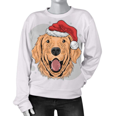 Image of SportsChest STORE Have A Golden Christmas Women's Sweater for Golden Retriever Dog Lovers