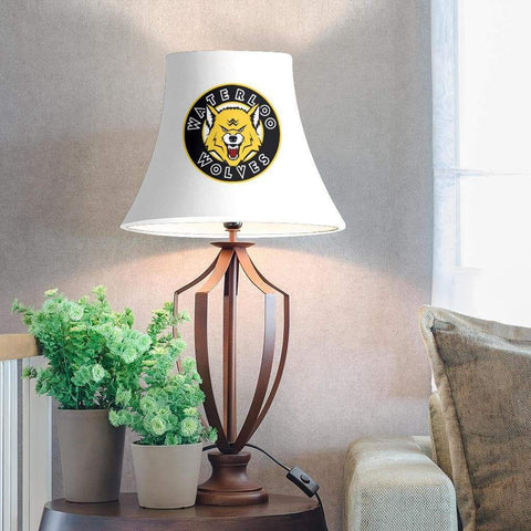 Image of SportsChest STORE Lamp Shade - White Bell Lamp Shade / One Size Waterloo Wolves White Bell Lamp Shades