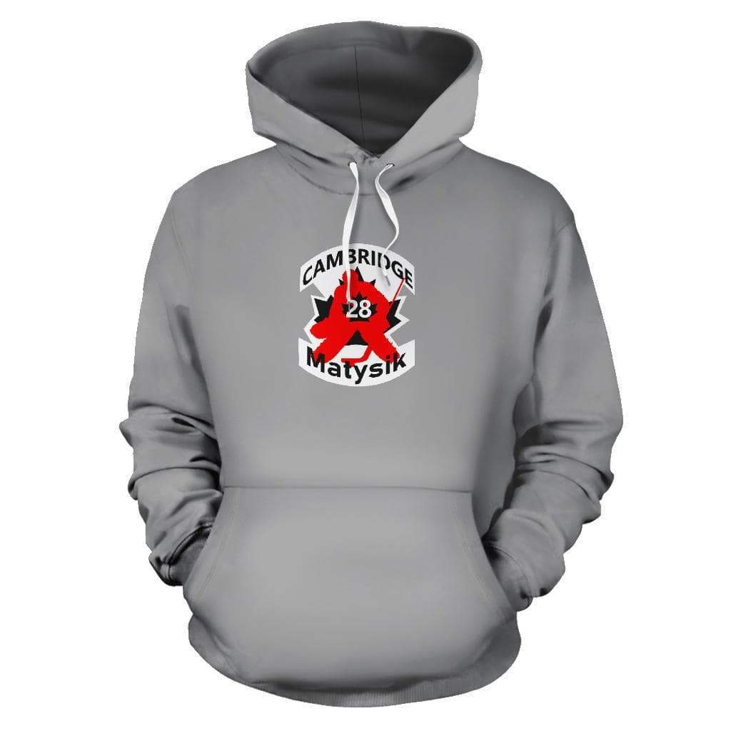 SportsChest STORE Men's Hoodie - #28 Matysik Cambridge Hockey Grey Hoodie / S #28 Matysik Cambridge Hockey Grey Hoodie