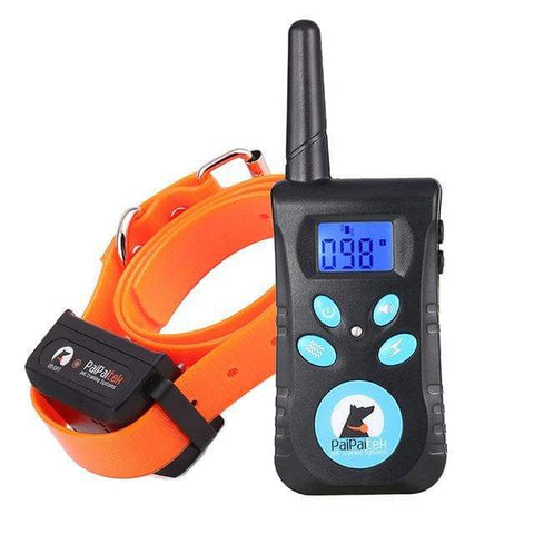 SportsChest STORE Orange collar Two in One Automatic Anti bark 1500 ft remote pet Dog training electric shock collar bark