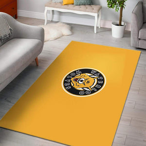 SportsChest STORE Rug - Yellow Area Rugs / Small (3 X 5 FT) Waterloo Wolves Yellow Area Rugs