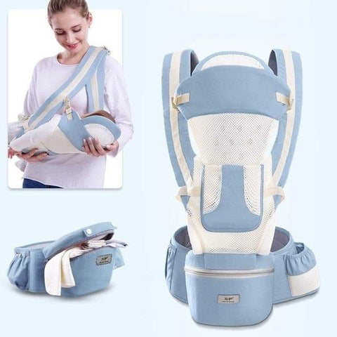 SportsChest STORE summer-light blue 0-48M Ergonomic Front Facing Baby Carrier