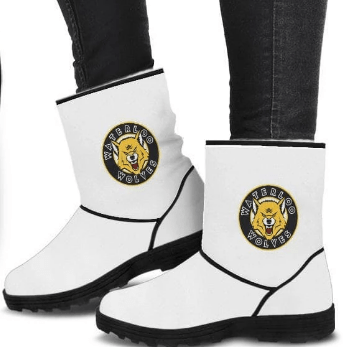 Image of SportsChest STORE Waterloo Wolves Black Cozy Faux Fur Boots