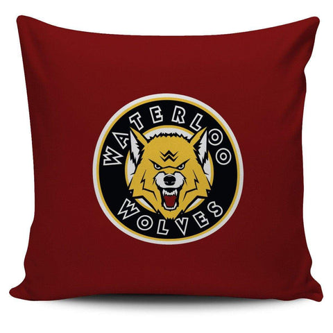 "SportsChest STORE Waterloo Wolves Red Pillow Waterloo Wolves Square Pillow Covers 42 cm (17.7"") x 42 cm (17.7"")"