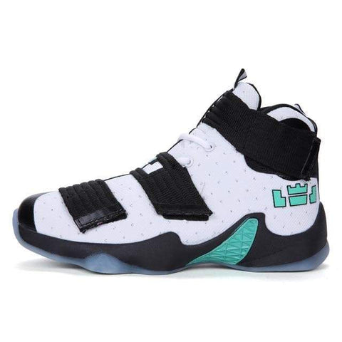 Men High Top Breathable Basketball Shoes