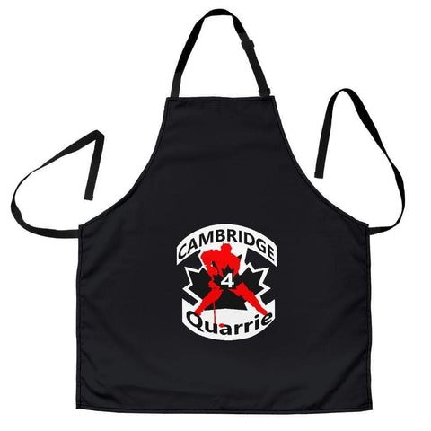 Image of SportsChest STORE Women's Apron - #4 Quarrie Cambridge Hockey Black Apron / Universal Fit #4 Quarrie Cambridge Hockey Apron