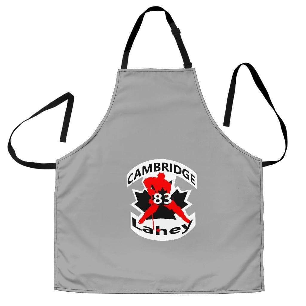 SportsChest STORE Women's Apron - #83 Lahey Cambridge Hockey Women's Grey Apron / Universal Fit #83 Lahey Cambridge Hockey Women's Black Apron