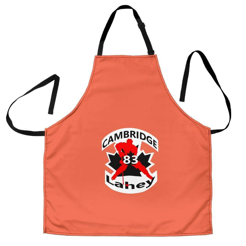 SportsChest STORE Women's Apron - #83 Lahey Cambridge Hockey Women's Peach Apron / Universal Fit #83 Lahey Cambridge Hockey Women's Black Apron