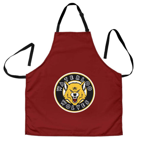 Image of SportsChest STORE Women's Apron - Red Waterloo Wolves Women's Apron / Universal Fit Waterloo Wolves Aprons