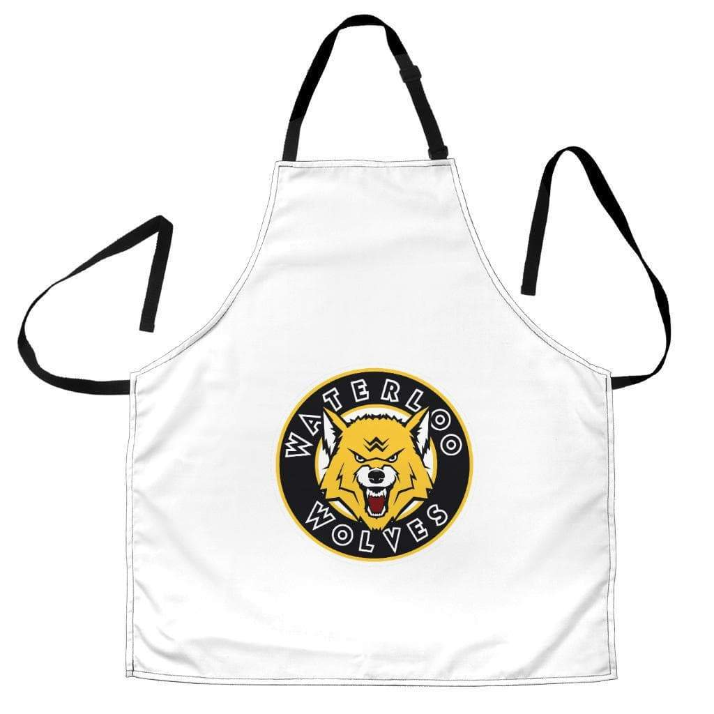 SportsChest STORE Women's Apron - White Waterloo Wolves Women's Apron / Universal Fit Waterloo Wolves Aprons