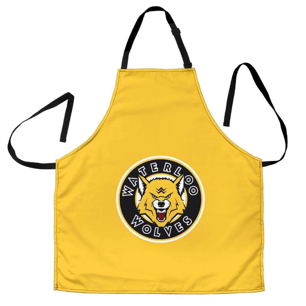 SportsChest STORE Women's Apron - Yellow Waterloo Wolves Women's Apron / Universal Fit Waterloo Wolves Aprons