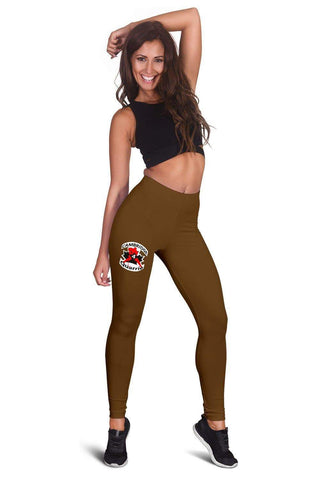 SportsChest STORE Women's Leggings - #4 Quarrie Cambridge Hockey Brown leggings / XS #4 Quarrie Cambridge Hockey Brown leggings