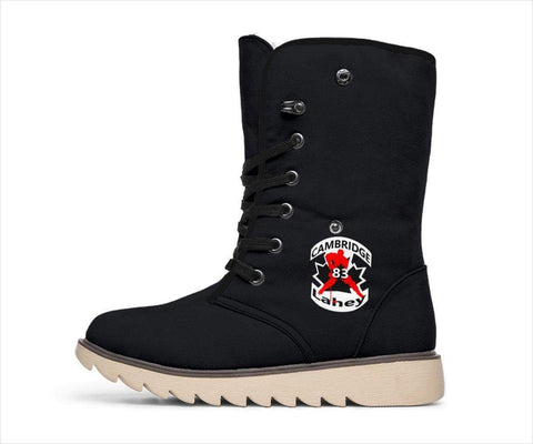 Image of SportsChest STORE Women's Polar Boots - #83 Lahey Cambridge Hockey Black Polar Boots / US4.5 (EU35) #83 Lahey Cambridge Hockey Polar Boots