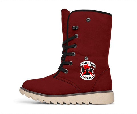 Image of SportsChest STORE Women's Polar Boots - #83 Lahey Cambridge Hockey Red Polar Boots / US4.5 (EU35) #83 Lahey Cambridge Hockey Polar Boots