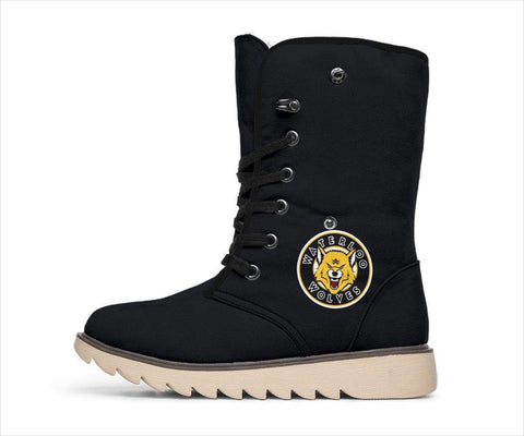 SportsChest STORE Women's Polar Boots - Waterloo Wolves Polar Boots Black / US4.5 (EU35) Waterloo Wolves Polar Boots White