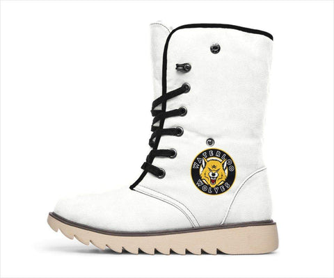 Image of SportsChest STORE Women's Polar Boots - Waterloo Wolves Polar Boots White / US4.5 (EU35) Waterloo Wolves Polar Boots White