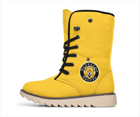 SportsChest STORE Women's Polar Boots - Waterloo Wolves Polar Boots Yellow / US4.5 (EU35) Waterloo Wolves Polar Boots White
