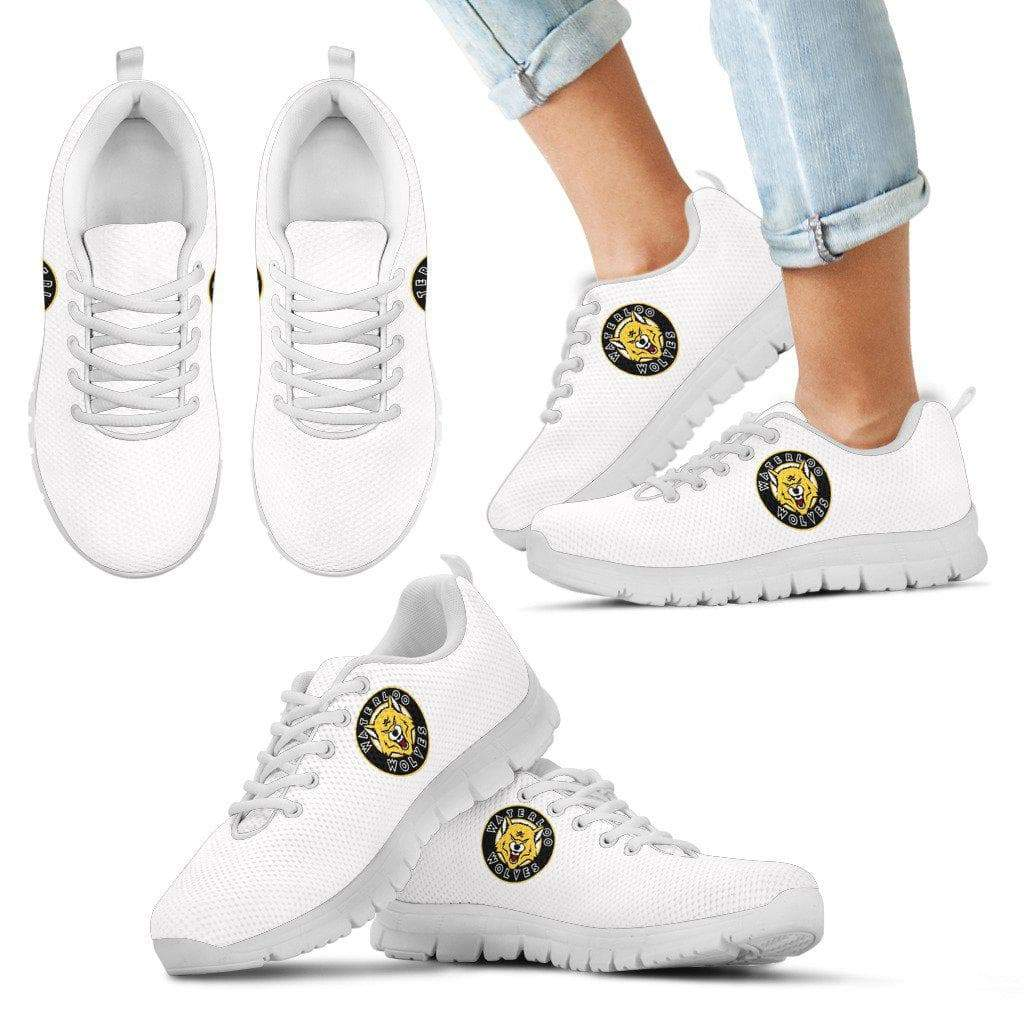 SportsChest STORE Women's Waterloo Wolves White Sneakers