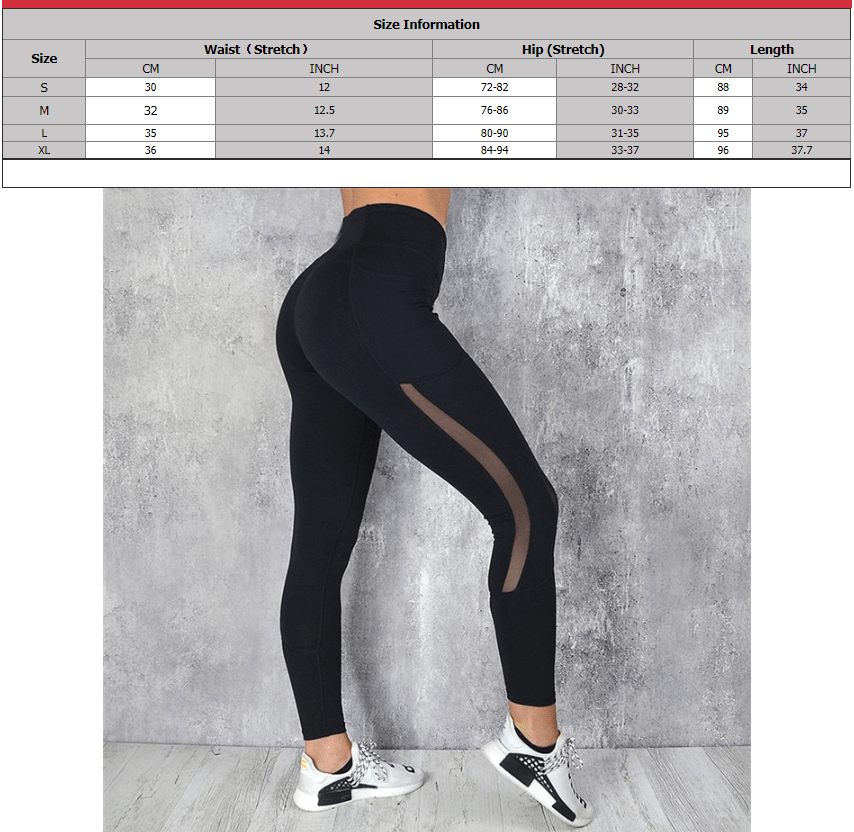 SportsChest SVOKOR Women Fitness Leggings With High Waist & Pocket