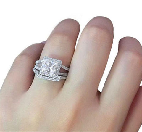 SportsChest Unicorn Silver Ring 5 / 1864 2pcs/Set Unicorn Silver Luxury Rings