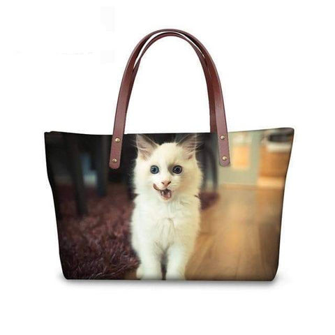 SportsChest W3177 / 49x29x39x11.5cm 3D Cute Cat Printing Women Handbags