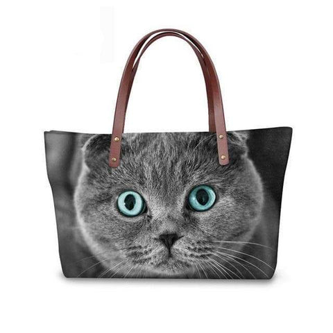 SportsChest W3178 / 49x29x39x11.5cm 3D Cute Cat Printing Women Handbags