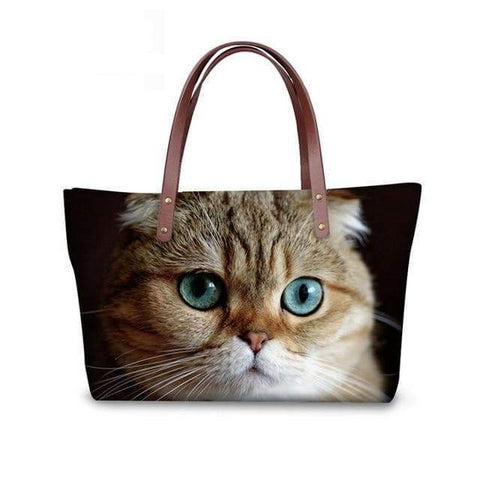 SportsChest W3186 / 49x29x39x11.5cm 3D Cute Cat Printing Women Handbags