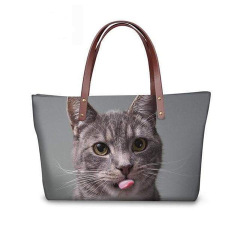 SportsChest W3188 / 49x29x39x11.5cm 3D Cute Cat Printing Women Handbags