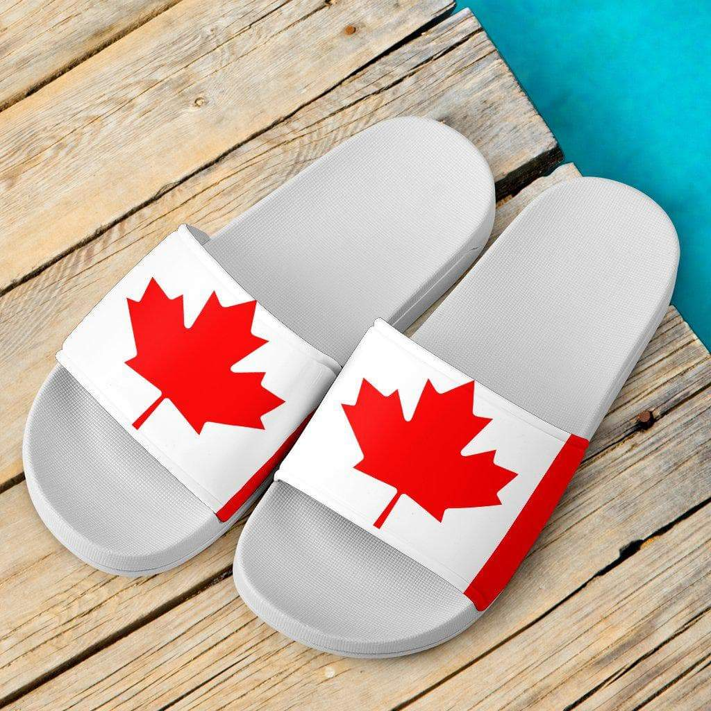 SportsChest Women's Slide Sandals - White - Canada Slide Sandals / US5 (EU36) Canada Slide Sandals