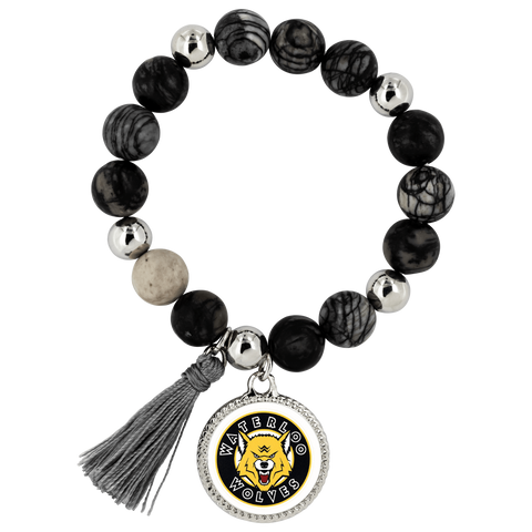 Image of teelaunch Bracelets - Troupe Bracelet - Lyric Waterloo Wolves Lyric Style Bracelet