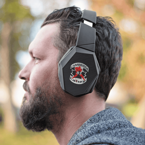 teelaunch Headphones Headphones #83 Lahey Cambridge Hockey Wrapsody™ Bluetooth Headphones.