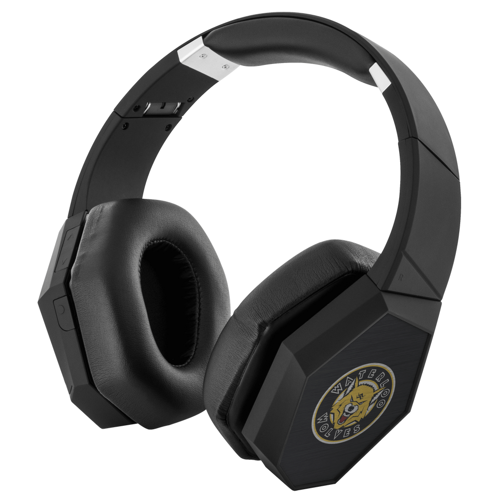 teelaunch Headphones Headphones Waterloo Wolves Bluetooth Headphones