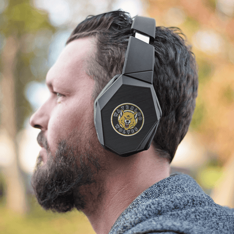 Image of teelaunch Headphones Headphones Waterloo Wolves Bluetooth Headphones