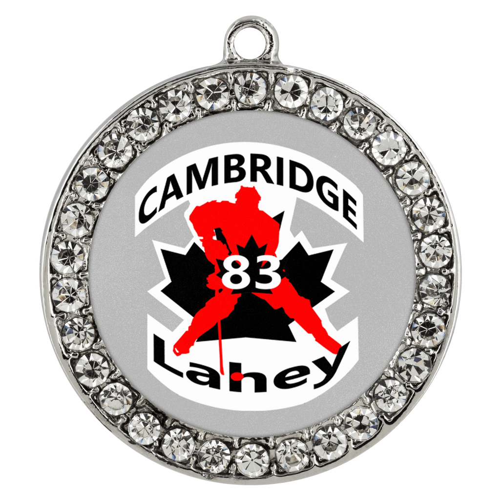 teelaunch Necklaces - Troupe #83 Lahey Cambridge Hockey Stone Coin Necklace